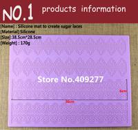 Free shipping 385*285mm large silicone mat fondant lace mold cake decorating tools cakes molds chocolate molde bakeware
