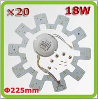 Wholesale DHL shipping 120V 220V 230V 240V Dia225mm 18W led ceiling light board down light sources PCB 1800lm