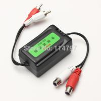 50PCS/LOT Car RCA Amplifier Ground Loop Isolator Audio Noise Filter Suppressor