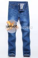 2014 Newly Free Shipping Mens Jeans,Fashion Brand Denim Jeans Men's,Mans Cotton Hot Jeans Pants,Plus Size Winter Plus Velvet