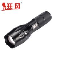 Glare flashlight t6 focusers ride outdoor waterproof mini led charge flashlight