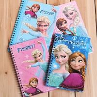 New Arrival Frozen Notepad Frozen Cartoon Spiral Notebook Frozen Notepad F141018204 Free Express Shipping