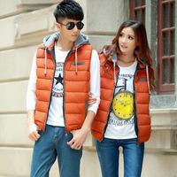 Chengzhao agent 2014 autumn and winter fashion casual hooded female money cotton vest couples dress jacket cotton vest