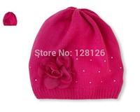 Wholesale Autumn Winter cotton flower children knitted cap