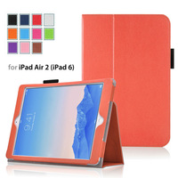 Lightweight Smart Stand leather case For 2014 Edition iPad Air 2 (iPad 6th Gen) Tablet With Smart Cover( Auto Wake/Sleep)