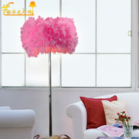 Free shipping Sitting room bedroom floor lamp floor lamp feathers