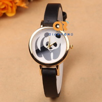 Women fashion watch Analog girl best quality quratz watches lady casual dress oranment Geneva wristwatches panda cartoon sales