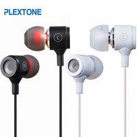 Plextone X37M 3.5mm In Ear Metal Headset Earphone Headphone With Mic Microphone For Htc Iphone Samsung Mobile Phone