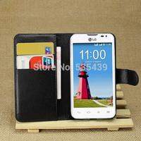 HOT ! NEW 1PCS 8color luxury leather Litchi grain Noble concise Flip Stand wallet Cover Case For LG L65 case D285 D280