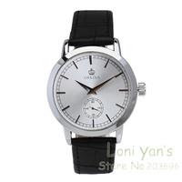 Fashion Orkina White Dial Watch Man Women Quartz Watches Leather Unisex Watch Wristwatch Free Ship