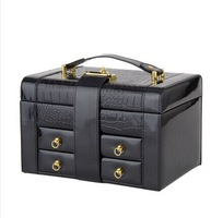 2014 New High-quality Princess style European leather jewelry box GUANYA portable high range jewelry box for birthday gift