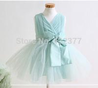 girls chiffon lace flower dress 2014 wholesale fashion princess teenage kids children wedding party occasion clothing 2-7 years