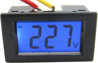 5PCS/LOT AC 80-500V LCD digital voltage volt panel meter voltage tester Monitor gauge display black shell 110V 220V 380V