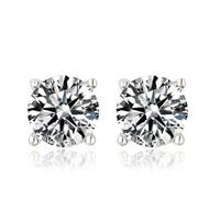 Four Prongs 5mm Top Quality CZ Diamond Stud Earring