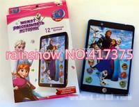 Russian language Frozen princess educational mini pad, intelligent dolls electronic pets learning machine for child kids