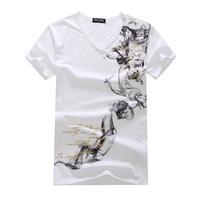 2014 latest men's short-sleeved V-neck T-shirt wholesale T-Shirt Men's T-shirt design fashion