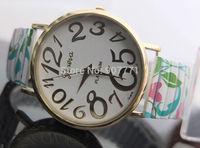 Fashion Geneva Platinum Floral Majestic Numbers Stretchable Women Men Dress Casual Analog Quartz Wrist Watches Hot Sell