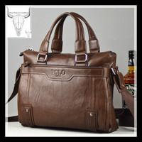 2014 men's fashion brand real leather men business one shoulder handbag bag/computer bag for the discharge of official duties