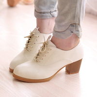 Punk Rock Buckle Strap Chunky Heels Platform women's Ankle high-heeled sexy pumps cutout vintage low-top Shoes