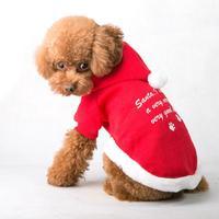 Winter Dog Clothes Christmas Cotton Puppy Clothes Pet Dog Clothes for Christmas Dog Clothes  Gift Random Pattern