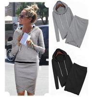 Hot selling Sport Suit Casual Sport Set Tracksuits casual baseball 2pcs/set (Hoodies +Irregular Skirt ) LSP487LMX Free Shipping