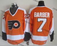cheap stitched ice hockey jersey  Philadelphia Flyers #7 Bill Barber  men's ice hockey jersey/ shirt