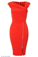 Red Pleated Shift Bodycon Dresses LC21667