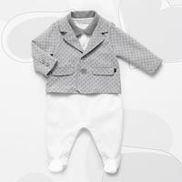 2014 new Brand autumn winter baby boy clothesshort sleeve rompers set long sleeve coat outerwear jacket 3-24M newborn