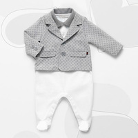 2014 new Brand autumn winter baby boy clothesshort sleeve rompers set long sleeve coat outerwear jacket 3-24M newborn