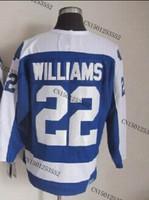 cheap stitched ice hockey jersey  Toronto hockey jersey  #22 Tiger Williams men's ice hockey jersey/ shirt