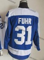 cheap stitched ice hockey jersey  Toronto hockey jersey  #31 Grant Fuhr  men's ice hockey jersey/ shirt