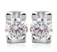simple styke stud earring925 sterling sliver earrings zircon jewelry jewelry free shipping 2014 fall fashion for women M118