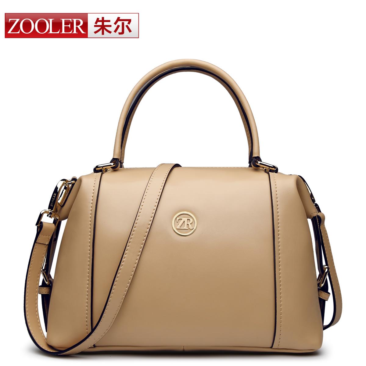 ZOOLER brand women bag 2014 new solid genuine leather women's handbag fashion leisure handbag /bags handbags women famous brands(China (Mainland))