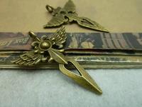 20Pcs Antique Bronze Tone Crosses Charms DIY Jewelry Making