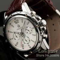 Orkina Fashion  Man's Quartz Steel Sport Date Men Leather Band Men's Watch Mens Watches Free Ship