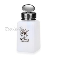 50PCS/LOT WTS-60 Alcohol Liquid Push Down Dispenser Container Bottle 180ml