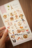 Parisien Dog Sticker--Christmas Gift Novelty Toy