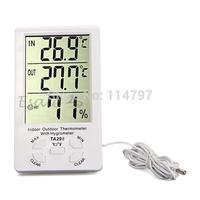 30PCS/LOT Clock LCD Digital Hygrometer Humidity Thermometer Temperature Meter Gauge