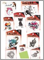 12pcs/lot 10 Different Patterns Waterproof Tattoo Sticker Animals Skull Body Art Temporary Tattoo Sticker