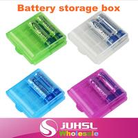 battery box,AA / AAA battery sorting boxes,5/7 NiMH battery storage box,digital storage box,Free Shipping!X4