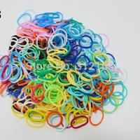 300 PCS  Rubber Bands Loom Set Multy Colors Option fluorescence color DIY Bracelet Anklet opp bag  BOS.L1