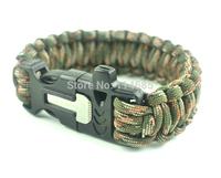 wholesale 550 Paracord Bracelet Paracord  Bracelet Outdoor Camping Survival Kits plastic buckle