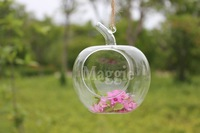 Free Shipping Glass pots Ball Hanging Vase Creative Glass Candle Holder Home Decorative Christmas gp002 Decorative