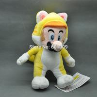 "Free Shipping Super Mario 3D World Plush Toy Doll by Sanei - 9"" Neko Cat Mario"