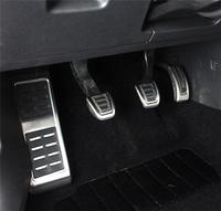 Volkswagen VW Stainless Steel Manual Transmission MT Pedal LHD Footrest+Clutch+Brake+Accelerator Pedals Kit(fits: Golf MK7 VII)