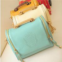 2014 new handbag European and American big British double pull crown bag retro handbags wholesale trend