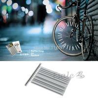 100set/LOT 12Pcs Bike Bicycle Wheel Spoke Reflector Reflective Mount Clip Tube