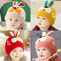 HT-1458 Retail free shipping baby girls baby boys winter hats Rabbit STYLE  baby caps children's winter hats warm earmuff caps