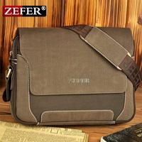 Zefer man fashionable canvas bag, male backpack shoulder car bags, leather backpack men, high quality canvas laptop briefcase