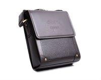 New arrival fashion genuine leather messenger bag, Hot sale brown color men's bags 2014, high quality business shoulder bag